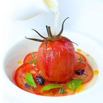 Isle of Wight Tomato, Crab, Lime & Lemon, Chilled Tomato broth
