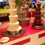 A chocolate fountain at breakfast!