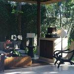 Le salon de plein air privé