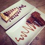 Cheesecake y brownie