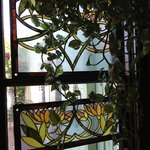 The windows in the cafe had these great pieces of stained glass that were just beautiful!
