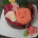 Special Chirashi Lunch plate with extra Salmon