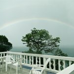 There's more than rainbows to see from the upstairs veranda