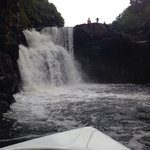 Nice excursion to a little cascade in the south of the island