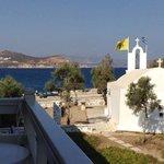 vue du balcon d'une chambre à l'étage, Hotel Galini