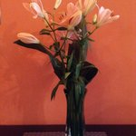 Fresh flowers in deluxe room