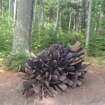 Pine cone sculpture
