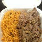 Pernil and arroz con gandules