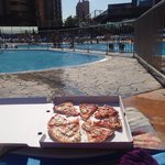 Pizza by the pool freshly made!