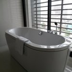 bathtub with Bangkok view