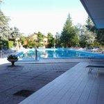 La piscina con acqua termale non riscaldata