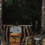 Soothing Drumming as we enjoyed our meal