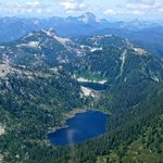 One of the many alpine lakes on the aerial tour.