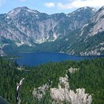 """Widgeon Lake, where we landed during the """"Alpine Lakes and Glacier Tour"""".  Spectacular!"""