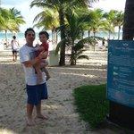 ingreso a la playa