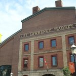 The historic looking brick outside of St. Lawrence Market