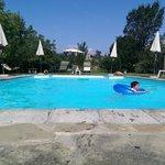Enjoying the lovely pool