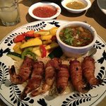 Bacon-wrapped shrimp.  YUM