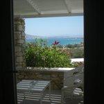 vue depuis notre chambre sur la mer