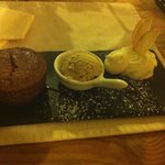 A chestnut ice cream and fondant with chantilly entierly handmade/ un fondant et une glace a la