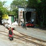 Restoration work on old rail siding