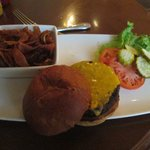 Tasty burger at the Palm Court and The Tap Room