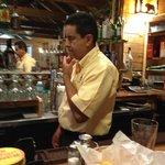 Ramon, the owner, behind the bar.
