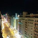 Vistas nocturnas desde la terraza