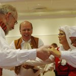 Swedish folk dancers at Toftaholm Manor
