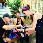Carla - doing her pre dive plan