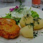 Chicken schnitzel dish