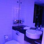 Bathroom, blue light