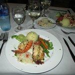 Grilled lobster.
