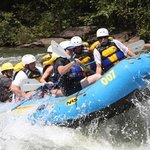 on the Ocoee in the 007 getting air