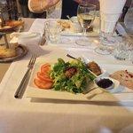 Assiette aux deux foies gras