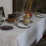 Middagbord på Chr. 4 tid