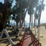 The boardwalk from the parking lot, down to Chileno Beach