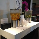 Fruit Infused Water in the Lobby, refreshing!