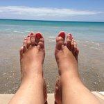 Transat les pieds dans l'eau :o)