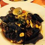 Seafood black Tortellini