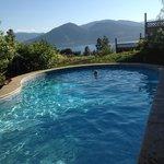 beautiful view from saline pool