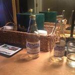 Quechee Inn sparkling water!