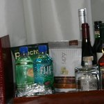 food and drinks in the room