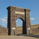 Roosevelt Arch at Yellowstone north entrance