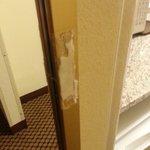 random junk on closet/mirror door