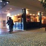 Navy in the lobby