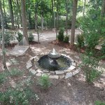 Fountain & Hammock at Sandy's Chalet