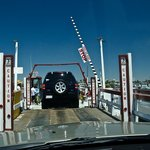 Driving your car onto The Balboa Ferry
