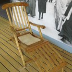 Replica Titanic deckchair