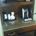 In room coffe and mini fridge in every room
